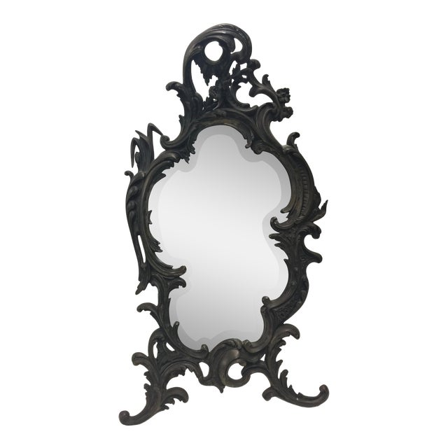 "Antique Rococo Table Mirror 22"" For Sale"