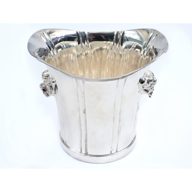 Large English Sheffield Silver Plated Champagne Cooler With Ice Bucket For Sale - Image 9 of 13