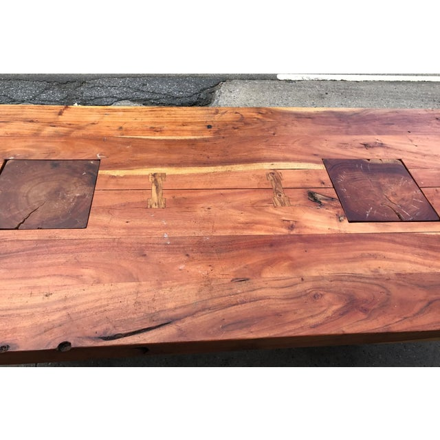 Walnut Walnut Free Edge Dining Table For Sale - Image 7 of 7