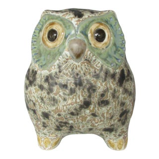 Vintage Lladró Little Eagle Owl Stoneware Figurine Sculpted by Antonio Ballester For Sale