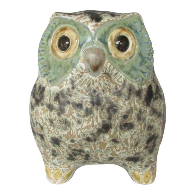 Vintage Lladró Little Eagle Owl Stoneware Figurine Sculpted by Antonio Ballester For Sale