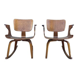 Rare Thonet Bentwood Rocking Chairs - A Pair