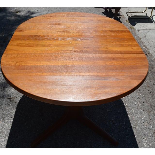 Mid-Century Danish Modern Teak Dining Table - Image 7 of 7