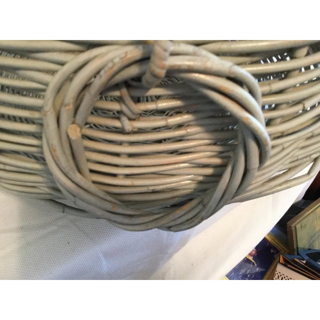 Decorative Basket With Handles For Sale - Image 9 of 10