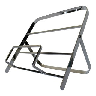 Polished Chrome Book / Cook Book Holder Easel For Sale