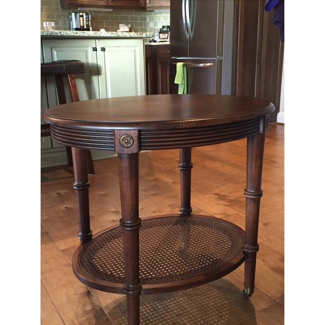Oval Side Table by Ethan Allen - Image 3 of 4