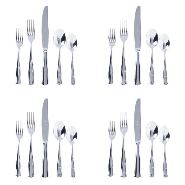 Italian Kenneth Ludwig Chicago Vietri Borgo Place Settings Set for 4 - 20 Pieces For Sale - Image 3 of 3