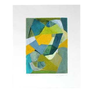 """""""The Verdant Path"""" Framed Geometric Abstract Painting"""