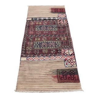 "Antique Rah Rah Handcraft Tribal Village Kilim Rug - 7'3"" x 3'1"""