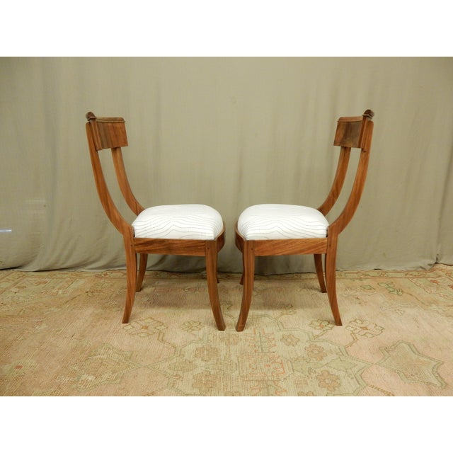 19th Century Pair of Neo-Classical Empire Side Chairs For Sale - Image 5 of 6