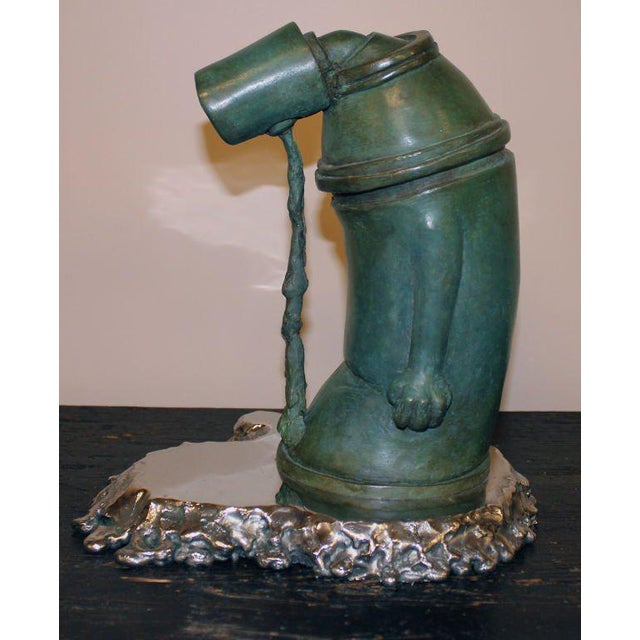 """Industrial """"Ashamed of Myself"""" a New Bronze Sculpture by Ivan Palmer For Sale - Image 3 of 9"""