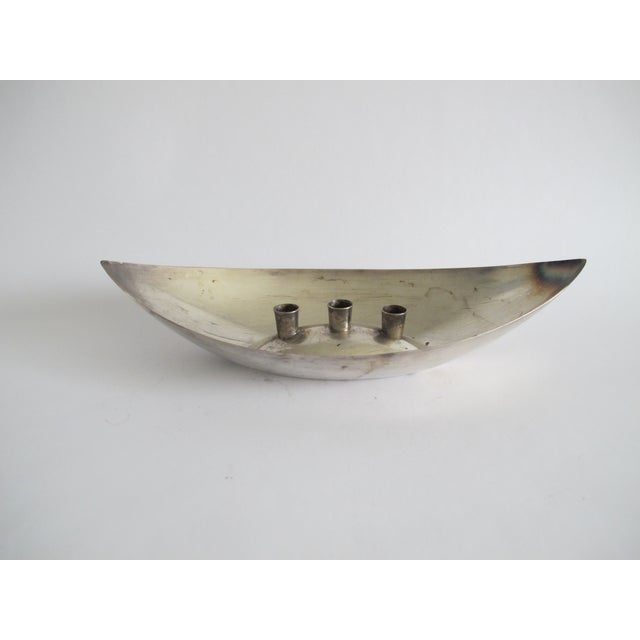 Mid-century Silver-Plated Candleholder - Image 3 of 6