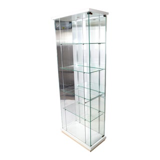 Italian Mid-Century Modern Wood & Glass Showcase, Display Cabinet, Storage Case For Sale