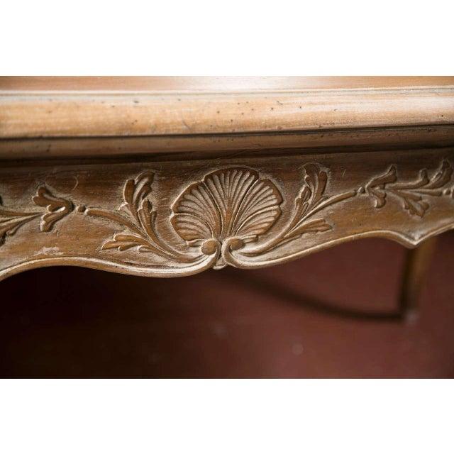 French Provincial Style Distressed Dining Table - Image 6 of 8