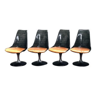 1970s Mid-Century Modern Chromcraft Lucite Tulip Chairs - Set of 4