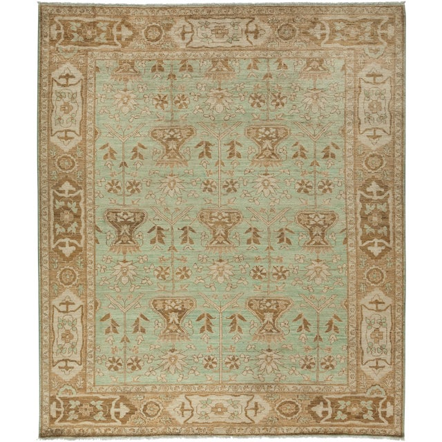 "Oushak Hand Knotted Area Rug - 8'5"" X 9'9"" For Sale - Image 4 of 4"