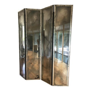 Hollywood Regency Smoky Mirror / Room Divider