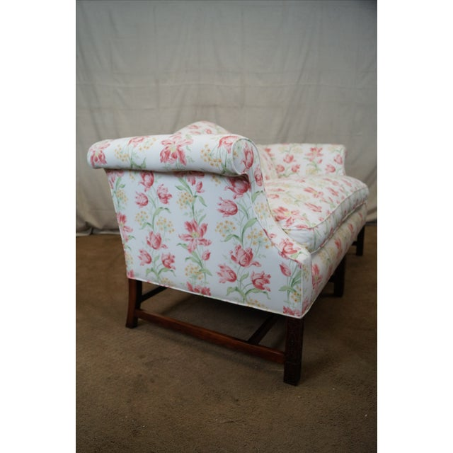 Antique Chippendale Style Mahogany Frame Sofa - Image 3 of 10
