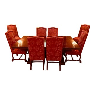 Fremarc Design Expandable Trestle Table and Chairs Set