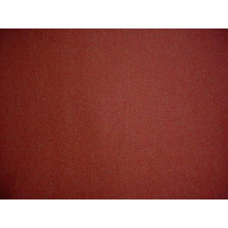 4y Mulberry House F206 Bohemian Romance Red Herringbone Wool Upholstery Fabric For Sale