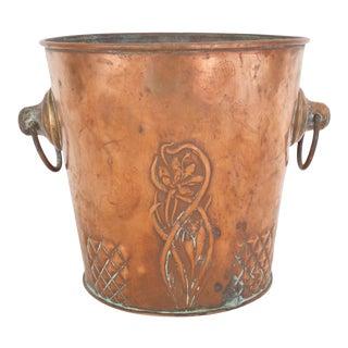 Antique Art Nouveau Champagne Bucket For Sale