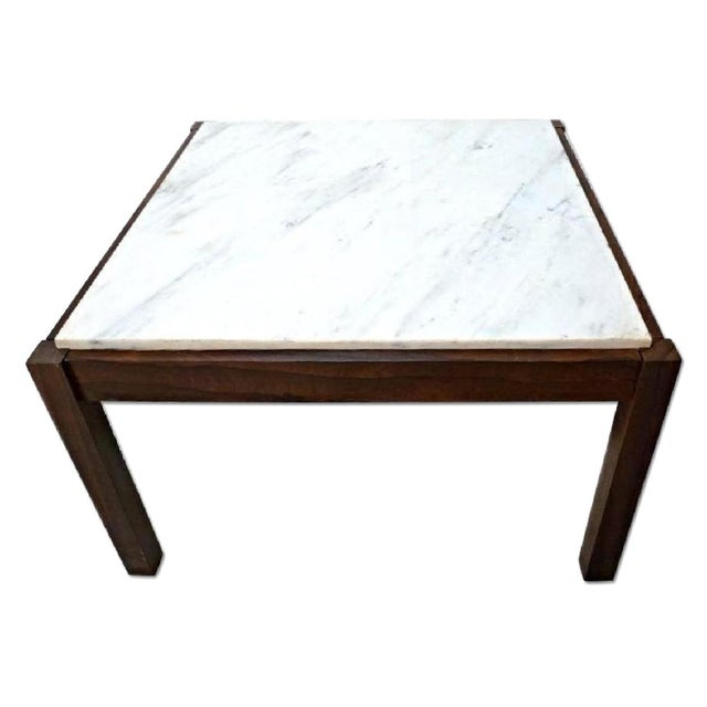 Danish Modern Rosewood & Marble Coffee Table - Image 4 of 10