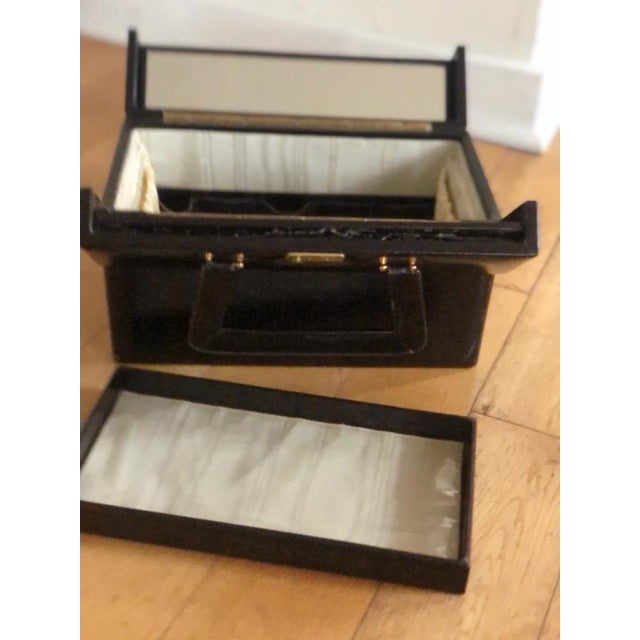 1970s Mid 20th Century Vintage Travelling Leather Vanity Case, 1960-1970 by Asprey For Sale - Image 5 of 12