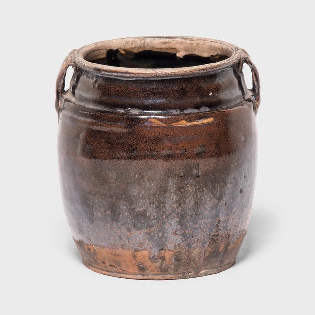 Late 19th C. Chinese Glazed Kitchen Jar For Sale In Chicago - Image 6 of 6