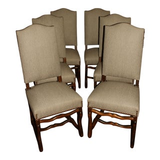 Late 19th Century Louis XIII Style Dining Chairs - Set of 6 For Sale