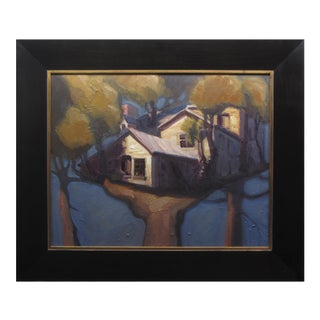 """Tree House"" Oil Painting"
