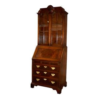 Vintage Traditional Kittinger One Piece Walnut Secretary Desk For Sale