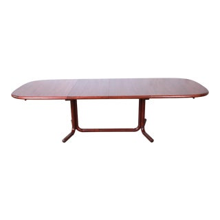 Danish Modern Rosewood Extension Dining Table, Newly Refinished For Sale