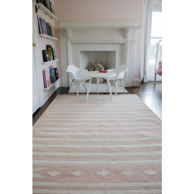 """Erin Gates by Momeni Thompson Billings Pink Hand Woven Wool Area Rug - 3'6"""" X 5'6"""" For Sale In Atlanta - Image 6 of 7"""