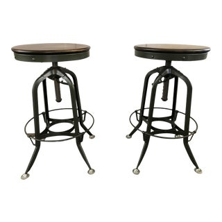 Restoration Hardware Toledo Barstools - a Pair For Sale