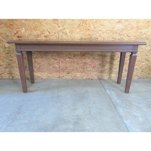 Italian Walnut Console Table For Sale In Philadelphia - Image 6 of 6
