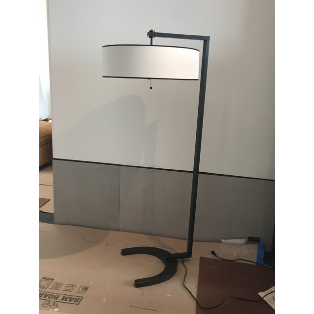 Contemporary Metal Silk Shade Floor Lamp 2 Available For Sale - Image 11 of 11