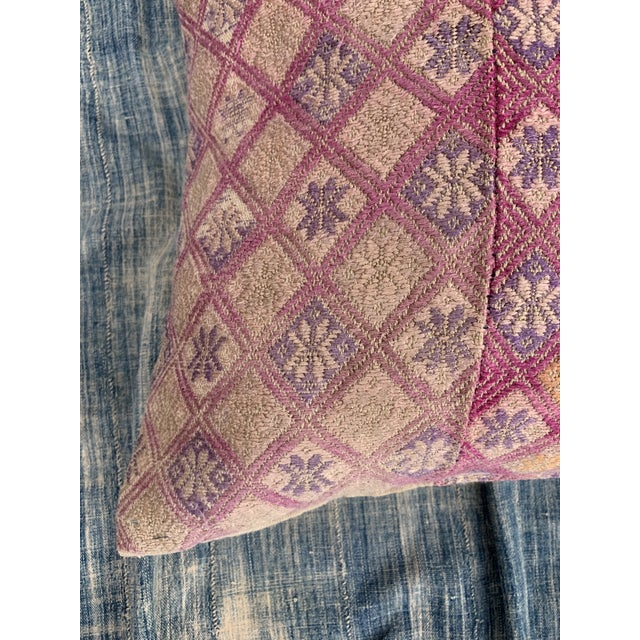 Antique Tribal Wedding Quilt Pillow For Sale In Los Angeles - Image 6 of 9