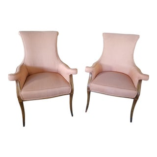 1940s Vintage Hollywood Regency Club Chairs - A Pair