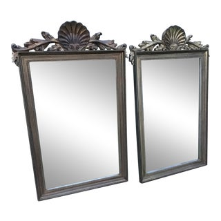 Mid 20th Century Italian French Shell Mirrors - a Pair For Sale