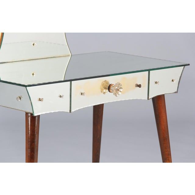 1950s Venetian Glass Vanity Table For Sale - Image 4 of 13