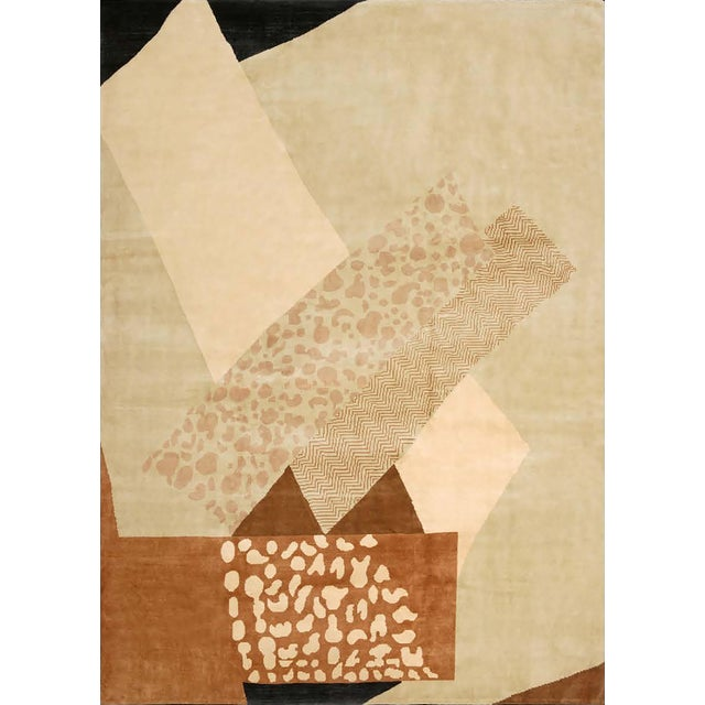 Contemporary Boccara Hand Knotted Limited Edition Artistic Rug Design N.15 For Sale - Image 3 of 3