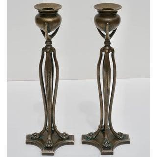 Pair of Tiffany Studios New York Art Nouveau Candlesticks, 1900 Preview