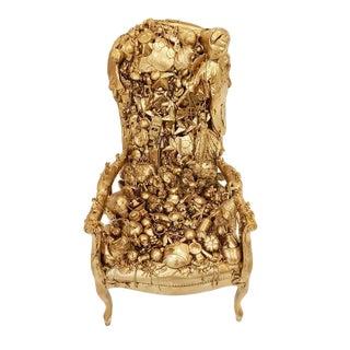 Aurelie Mantillet Gold Decoration Chair Sculpture