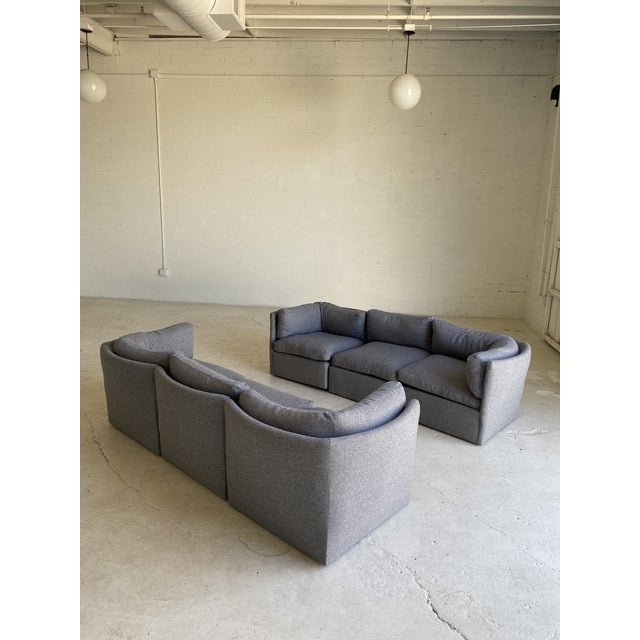 Milo Baughman Scalloped Back Modular Sectional Sofas - A Pair For Sale - Image 10 of 10
