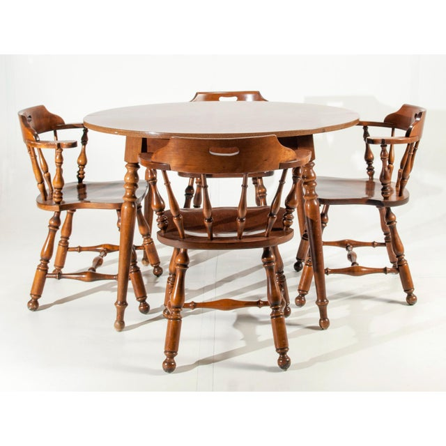 Kitchen Table And Chairs Ireland: Ethan Allen Heirloom Nutmeg Maple Dining Table & Chairs