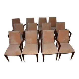 Dakota Jackson Ke'Zu Dining Arm Chairs - Set of 6 For Sale