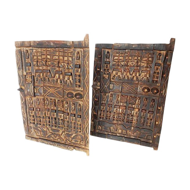 African Dogon Granary Doors - A Pair - Image 1 of 5
