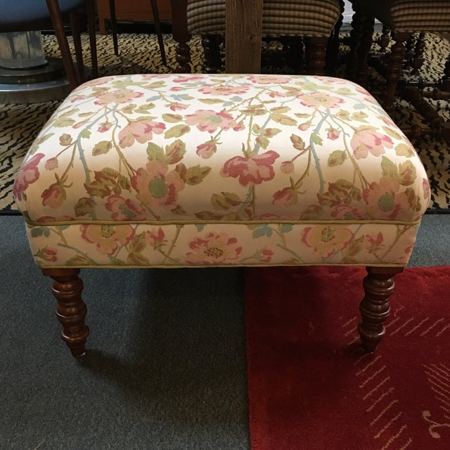 Custom Upholstered Ottoman - Image 2 of 6
