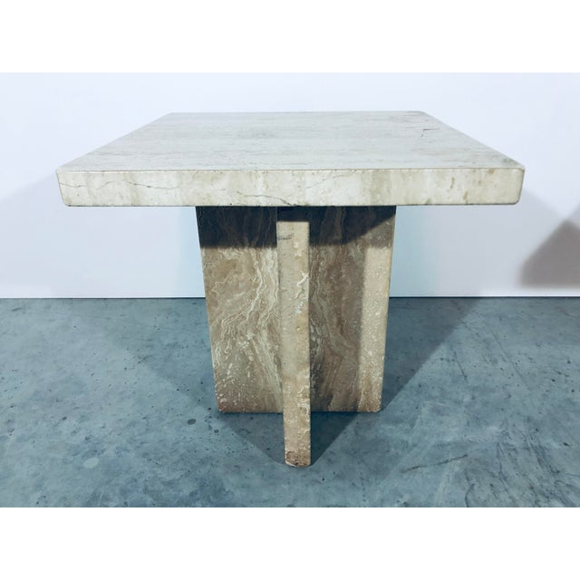 1970s 1970s Italian Travertine Side Tables - a Pair For Sale - Image 5 of 13