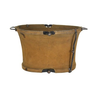 Vintage Canvas Military Collapsible Bucket